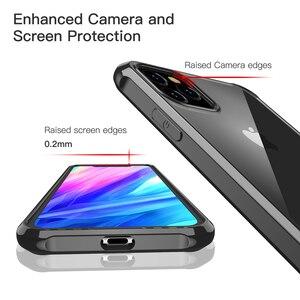 Image 5 - לניו apple iPhone 11 2019, עבור iPhone 11 פרו מקסימום מקרה עמיד הלם 360 תואר ברור להגן רך TPU + קשיח מחשב פלסטיק כיסוי