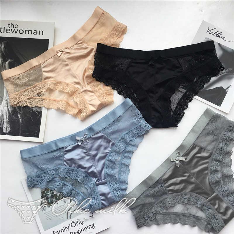 SP & CITY Модные Шелковые кружевные открытые трусики стринги для секса европейские женские прозрачные кружевные трусы с хлопковой ластовицей нижнее белье