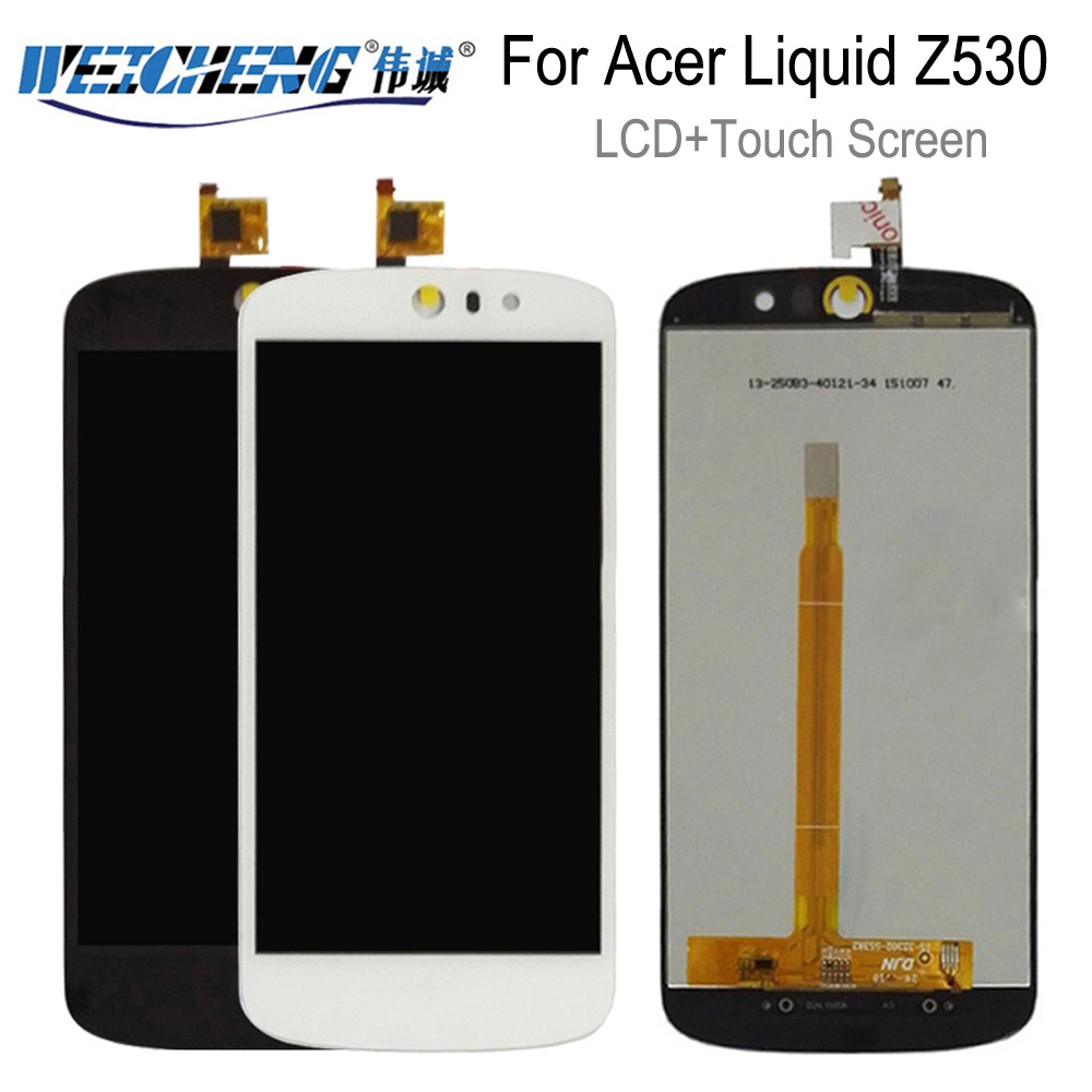 WEICHENG For Acer Liquid Z530 LCD Display+Touch Screen Assembly Replacement For Acer Z530 Lcd+free Tools+Adhesive