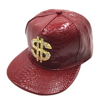 Mężczyźni czapki czapka z płaskim daszkiem czapka z daszkiem Hip Hop czaszka nit czapka z daszkiem czapka z daszkiem taniec uliczny czapka modny męskie i damskie czapka z płaskim daszkiem tanie tanio CN (pochodzenie) Hip Hop Czapki Adjustable Patchwork Poliester