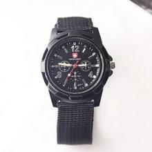 Модные швейцарские часы с нейлоновой оплеткой военные gemius