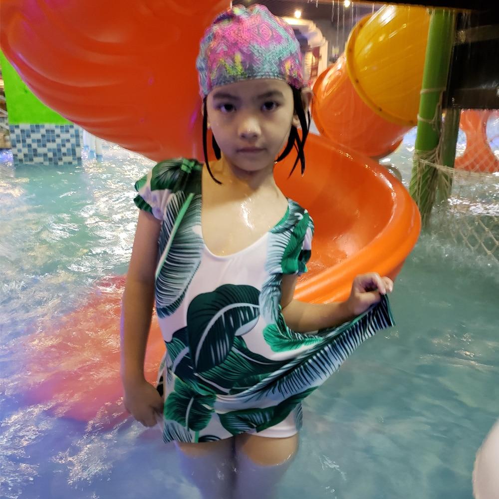 2019 GIRL'S Stripes Printed Cute Princess Dress-One-piece KID'S Swimwear Women's CHILDREN'S Small Children Swimwear Hot Springs