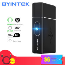 BYINTEK Merek U30 Full HD 1080P 2K 3D 4K Android Smart Wifi Portabel LAsEr Home Theater LED DLP Proyektor Mini Proyector Beamer(China)