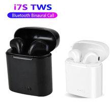 Venda quente i7s tws bluetooth fone de ouvido estéreo fone de ouvido sem fio bluetooth fones de ouvido in-ear para samsung galaxy s8 s9 s10 plus