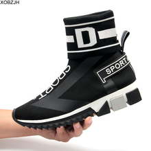 Luxury Casual Sock Shoes Men&Women Designers High Quality Red Blue Black Sneakers Boots Men Fashion Brand Shoes Woman Size 44 brand new quality hot elegant sweet women wedge sandals beige black blue lady fashion casual shoes em38 plus big size 32 43