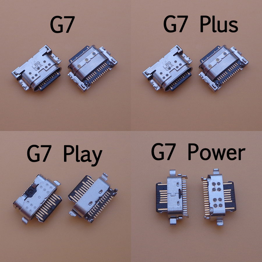 <font><b>10PCS</b></font> <font><b>USB</b></font> Charging Port charger <font><b>Connector</b></font> Plug Socket Dock Repair Part For Motorola for MOTO G7 G7 Plus G7 Power G7 Play image