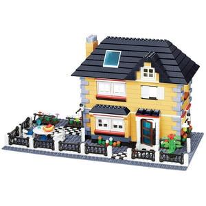 Image 3 - مدينة العمارة الفرنسية فيلا كوخ نموذج تجميع الطوب اللبنات عدة DIY بها بنفسك هدايا التعليم