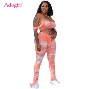 Adogirl Tie Dye Print Women Casual Two P