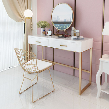 Dressing Table Ins Girls Bedroom Dressing Table And Chairs Creative Solid Wood Dressing Table Home Dressers Multifunctional