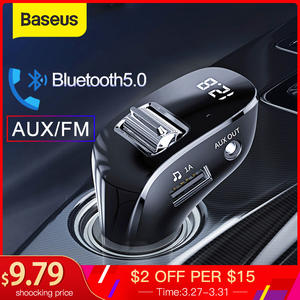 Baseus AUX Bluetooth Adapter Mp3-Player Car-Kit Car-Charger Fm-Transmitter Handsfree