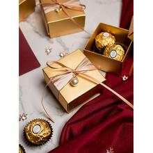 цена 20pcs/lot Gold gift box  luxury Square Wedding candy box packaging gift boxes  baby shower  Birthday party favors Supplies