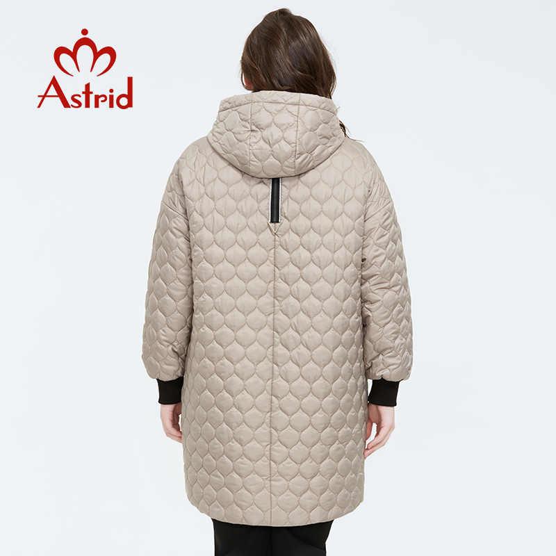 Astrid 2020 bahar yeni varış kadın ceket artı boyutu orta uzunlukta tarzı giyim yüksek kaliteli bir hood ile kadın kıyafetleri AM-3511