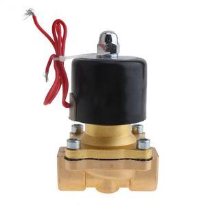 Image 2 - 1/2 3/4 1 סולנואיד שסתומים AC220V AC110V DC12V DC24V חשמלי סולנואיד Valve עם שני דרך שתי עמדה עבור מים/שמן