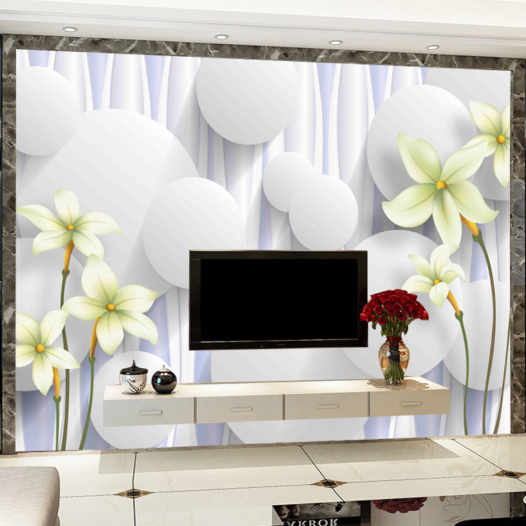 3D European Style Wallpaper Living Room Bedroom Simple Relief Wall Cloth Glorious Seamless Mural TV Backdrop Wallpaper