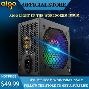 PC PSU Fan Power-Supply Desktop Gaming-Quiet 120mm Aigo-Max 600W 80plus 12v Atx New Black