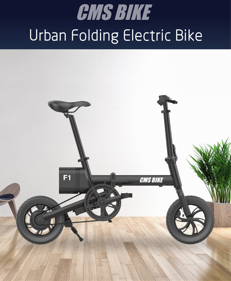 12'' brushless folding ebike strong power and low carbon electric bicycles