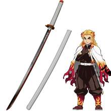 Demon Slayer: Kimetsu no Yaiba Japanese Anime Flame Pillar Cosplay Replica Sword Carbon Steel