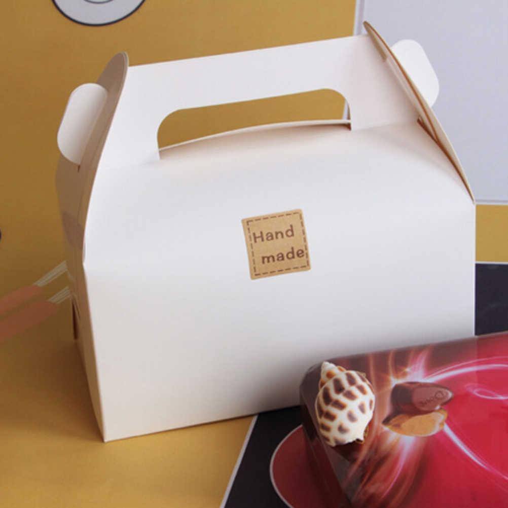 2020 Vintage hecho a mano etiqueta de marca Kraft etiqueta hecho a mano para regalo pastel hornear sellado adhesivo 25*25mm