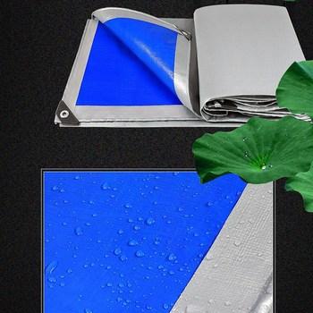 Dostosowane 0 32mm plandeki PE srebrzyste niebieskie plandeki ciężarówki łodzi osłona przeciwdeszczowa tkaniny namiot markizy wodoodporna siatka zacieniająca tanie i dobre opinie Tewango CN (pochodzenie) Hdpe NNW-PEFYB-YL Powlekany pcv Silvrey+Blue