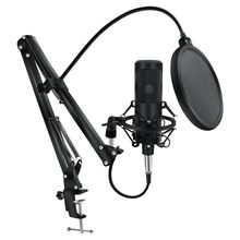 Metal Condenser Microphone Kit for PC Computer Professional Microphone With Stand Record At Home For Broadcasting Karaoke