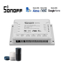Sonoff PRO R2 433MHZ Draadloze Smart Switch 4 Kanaals WIFI Controle smart Home homekit voor Alexa compatibel/Google domotica(China)