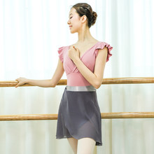 2020 Adult Ballerina Costume V-neck Ballet Leotard Skirts Women Bodysuit American Clothing Gymnastics Clothes Tutu Dance Wear(China)