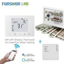 Termostato inteligente com wifi, termostato inteligente de parede hung, controlador de temperatura de aquecimento por baixo do piso, funciona com alexa do google home