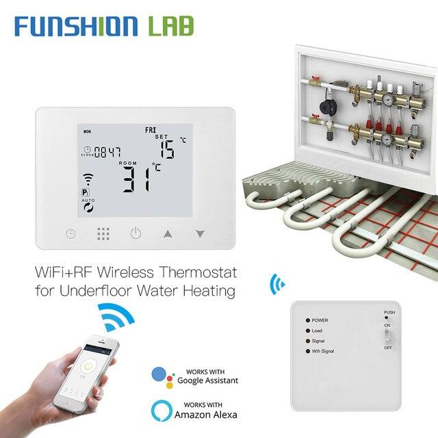 WiFi inteligentny termostat ścienny wody podłogowe temperatura podgrzewania kontroler współpracuje z Alexa Google domu