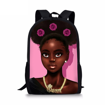 HaoYun Children Primary Backpack Black African Girls Prints Pattern School Bags Afro Art Designer Kids Book