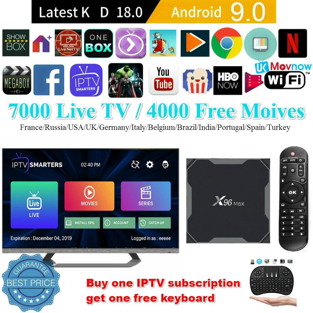 W95 8GB RK3229 Android 8.1 Quad Core Smart TV Box H.265 HD WiFi 4K 3D Media US