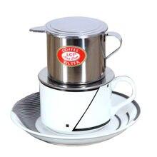 Вьетнамский фильтр для кофе, чайник из нержавеющей стали, чашка для заварки, подача вкусного портативного капельного фильтра для кофе из не...