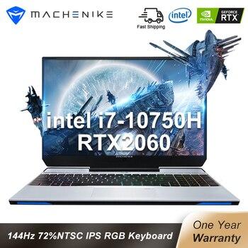 """Machenike Gaming Laptop F117 VD1 RTX 2060 i7 10750H 15.6"""" 144Hz 72% NTSC 16G RAM 512G SSD IPS Laptops 4 Zone RGB Keyboard"""