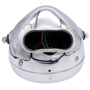Image 5 - 6 אינץ 35W 12V האוניברסלי רטרו מתכת ערפל מנורת אופנוע פנס צד הר עגול מנוע פנס עבור מחזיק להאלי/סוזוקי