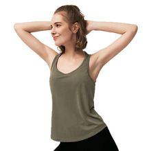 Solid Color Women Yoga Shirts Sleeveless Tank Top Gym Sports Running Athletic Active Stretch Workout Vest Quick Drying Clothes active casual quick drying top