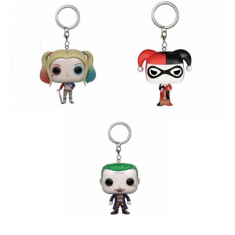 DC Comics отряд самоубийц Харли Квинн Джокер Карманный поп брелок аксессуары Мини фигурки модели игрушки подарки коллекция