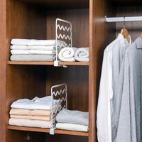 1 Uds armarios estante divisiones de organizador ajustable armario divisor estante de cocina, baño estante de almacenamiento espacio de vestuario de partición