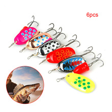 Newly 6pcs Spinner Bait Metal Spoon Fishing Baits Set Colored Spinner Lure Tackle Hook SD669 fishing bait fish lure hook twist spoon crankbaits spinner accessory tool tackle 20 12