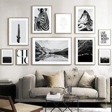 Montagne mer brouillard forêt lac Cactus désert nordique affiches et impression mur Art toile peinture mur photos pour salon décor