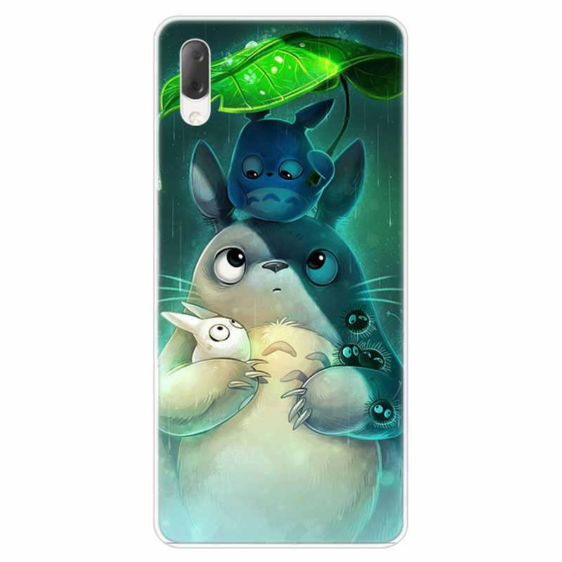 Anime studio ghibli Spirited Away Totoro skrzynka dla Sony Xperia L1 L2 L3 X XA XA1 XA2 Ultra E5 XZ XZ1 XZ2 kompaktowy XZ3 M4 Aqua Z3 5