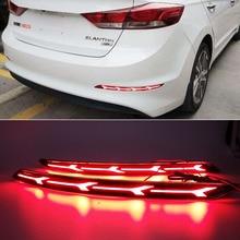 Car LED Reflector Light Rear Light For Hyundai Elantra 2016 2017 2018 2019 Brake Lamp Taillight Back Fog Light Warning Light