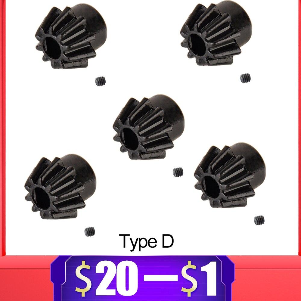 5PCS High-Carbon Steel Motor Pinion Gear Type D For M4 Airsoft Air Guns AEG Gel Blaster 460/480 Motor Hunting Accessories