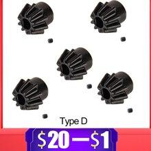 5PCS High-Carbon Stahl Motor Ritzel Getriebe Typ D Für M4 Airsoft Air Pistolen AEG Gel Blaster 460/480 motor Jagd Zubehör