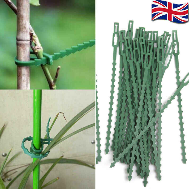 Garden ties package 30/50 pieces plastic adjustable Cable plant reusable Cable ties for garden tree climbing stand
