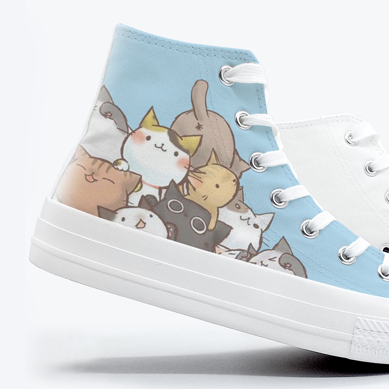 Image 4 - 2020 Spring New Style Anime Hand Painted Sneakers for Women High Top Breathable Casual Shoes Teengers Student Canvas ShoesWomens Vulcanize Shoes   -