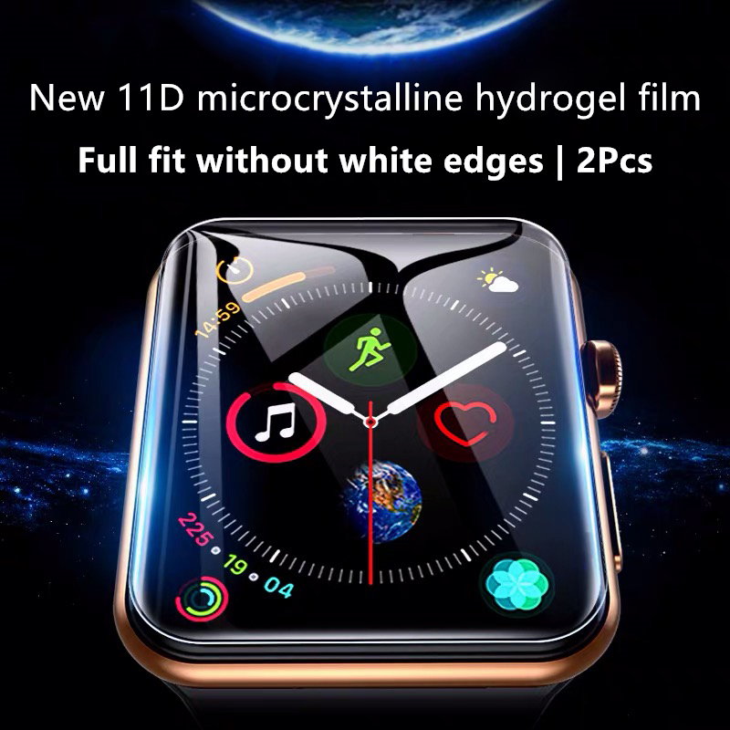 Screen Protector For Apple Watch Series 6 5 4 44mm 40mm Hydrogel Film For iWatch 2 3 Full Coverage Film 38mm 42mm Not Glass Film