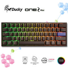 100%-Teclado mecánico Ducky One 2 Mini v2, LED RGB 60%, doble disparo, PBT, Cherry MX Switch, versión 2, original