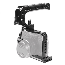 BGNing Aluminum DSLR Camera Cage Frame Top Handle Grip Mount Kit for Fujifilm XT20 for FUJI XT30 Stabilizer with Cold Shoe 3/8
