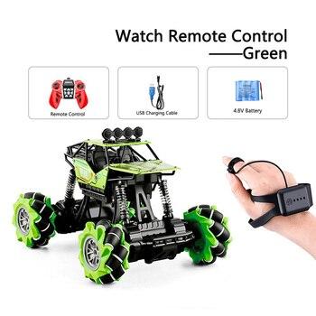 1:16 Rc Autos 4wd Uhr Control Geste Induktion Fernbedienung Auto Maschine Fur Radio-gesteuert Spielzeug Autos Stunt-Auto - RcCar001-Green