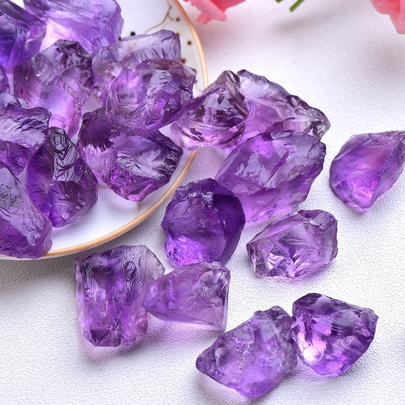 Натуральный кристаллический смешанный камень аметист упал чипы щебень исцеления Ювелирные изделия из кристаллов изготовление домашнего д...