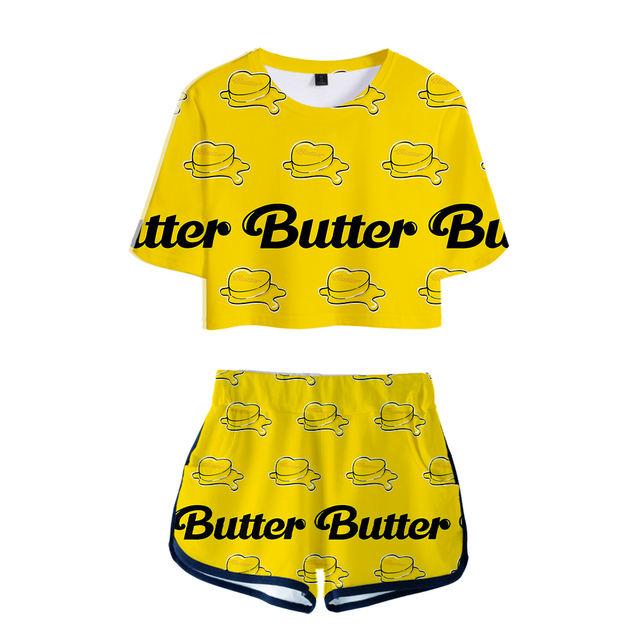 SET BTS BUTTER SHORT + T-SHIRT (7 VARIAN)